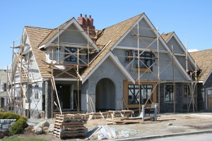 Upscale executive home, under construction